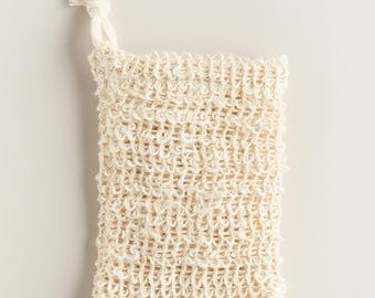 Natural Sisal and Cotton Soap Pouch