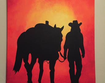 Cowgirl Canvas Painting