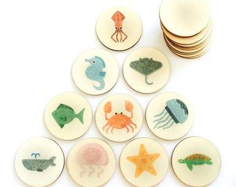 ocean animals - memory match
