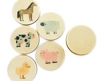 farm animals - mini match | memory match