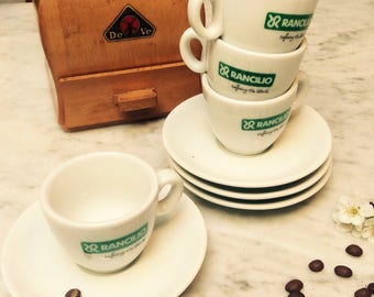 Top quality heavy porcelaine Rancilio Espresso cups / set of 2 as NEW !
