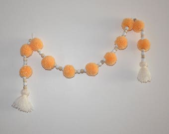 Garland tassels and wooden beads