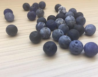 Natural Sodalite beads 8 mm