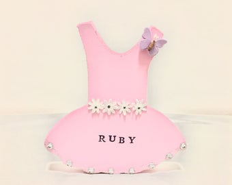 Personalised Freestanding Ballerina Dress