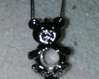 Bear cage pendant and necklace
