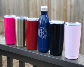 Stainless Steel Tumbler, Coffee Tumbler, Monogrammed Tumbler, Personalized Tumbler, Stainless Steel Bottle, Father's Day Gift, Travel Mug
