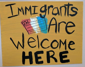 Immigrants Rights Canvas Sign