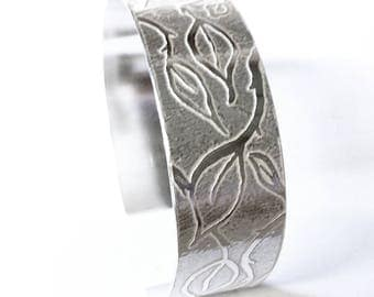 Entwined Leaf Cuff Bangle