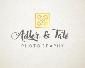 Premade Logo, gold foil design, photography or small business