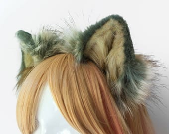 Wolf Fur Ears Headband