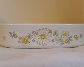 Corning Ware Floral Bouquet Casserole Dish