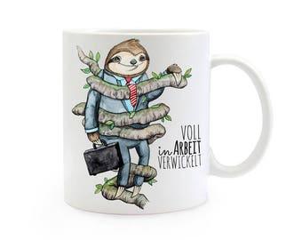 Gift coffee cup sloth saying TS332