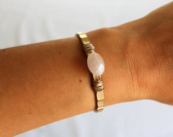 Precious Stone Pink Bracelet