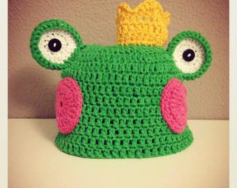Frog hat for kids