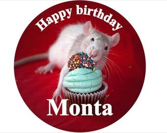 Rat personalised cake toppers