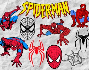 Spiderman clipart | Etsy