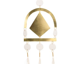 Diamond Tufts - brass wall hanging