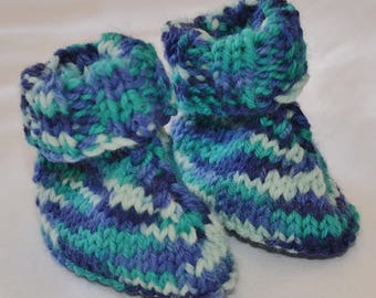 Hand Knitted baby boots/socks. Perfect baby shower gift.