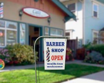 barbershop welcome sign barber shop banner barbershop outdoors sign walkins welcome sign barbershop open sign barber decor barbershop decor