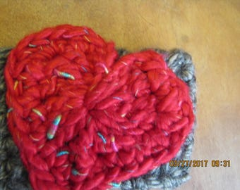 Ear Warmer/Headband with heart applique- YOUTH SIZE