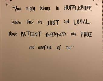 Harry Potter Sorting Hat song Quote