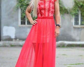 Red Prom/wedding/reception/bridesmaid dress for special occasion