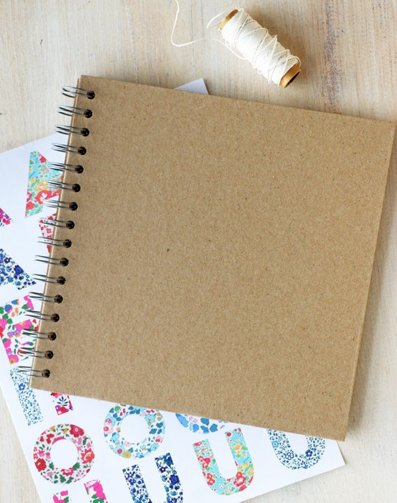 Diy Cover Guest Book : Scrapbook diy journal photo album or guest book for