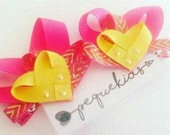 hearts hair clips