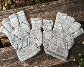 Fingerless Gloves Knitting Pattern, Lace Mittens, Women, Digital Printable PDF, Half Finger Mitts, Advanced Skill, Intermediate Level, Short