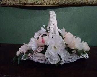 White Wedding or Flower Girl Basket