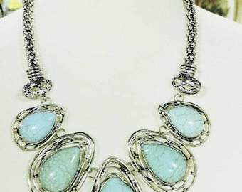 Turqiouse Statement Necklace