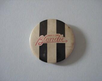 Vintage Blondie Parallel Lines Metal Badge