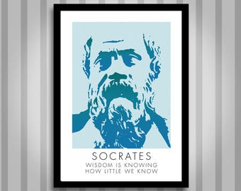 Socrates, motivational, Inspirational, Self Development, Personal Development, Poster