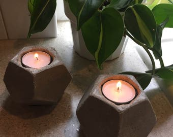 Modern Concrete Candle Holders