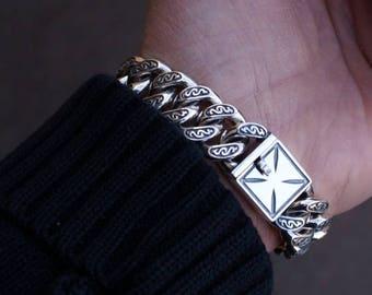 Custom Sterling Silver Gothic Bracelet