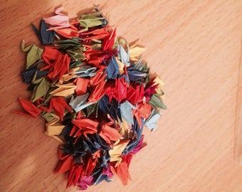 100 tiny paper origami cranes
