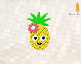 Mini pineapple embroidery design - 7 sizes - exotic embroidery design - baby embroidery - summer embroidery