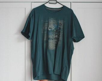 Calvin Klein T-Shirt Vintage T-shirt Gray Blue
