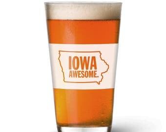 Iowa Awesome Pint Glass