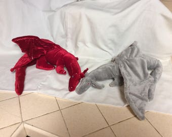 OOAK Red, White, Pink, and Purple Dragon Art Doll