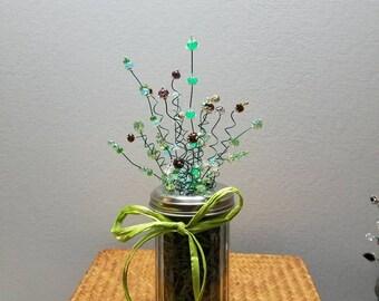 Beaded Shaker Jar Arrangement