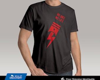 No Bike No Life Crew Neck T-Shirt - Worldwide Free Shipping