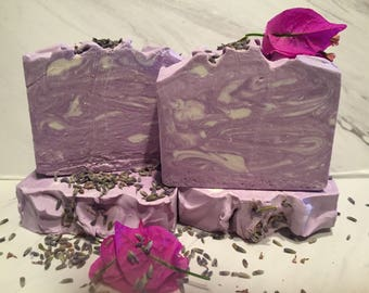Lavender Swirl Handmade Cold Process Soap  ON SALE NOW !!!!