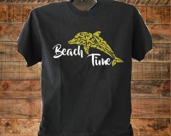 Beach Time, Dolphin, Summertime, Beach shirts, Summer Shirt, Dolphin Shirt, Beach Time Shirt, Summer Shirt, Golden Day