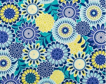 Cotton fabric, fabric by the yard, sewing fabric, spring fabric, floral fabric, vintage fabric, summer fabric