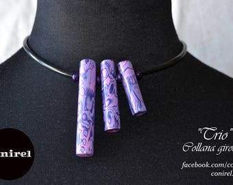 "Contemporary necklace ""Trio"""