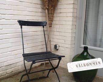 Beer garden chair, garden chair, folding chair, vintage, old, shabby, Shabbychic