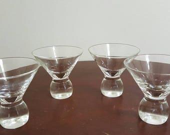 Vintage Martini Glasses - Set of 4