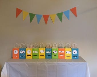 Little monster birthday party favor bags