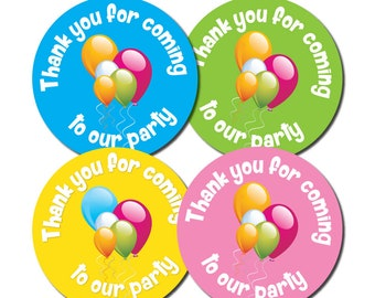 Thank You For Coming To OUR Party - 30mm party stickers - 4 colours
